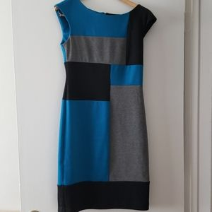 London Times color block dress